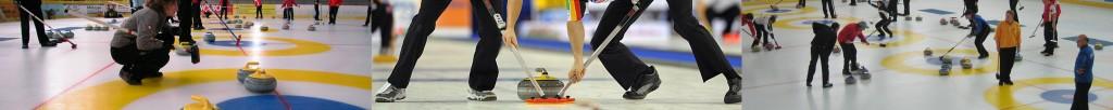 Curlingszene Wischen